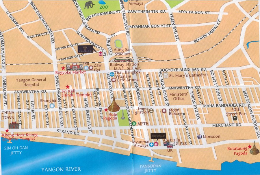 Rangoon Map